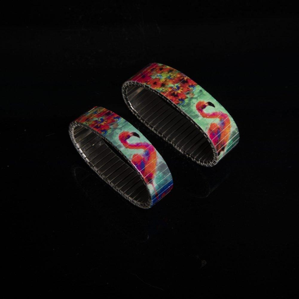 """Handgefertigtes Armband """"Flamingo"""" in zwei 'Breiten'"""