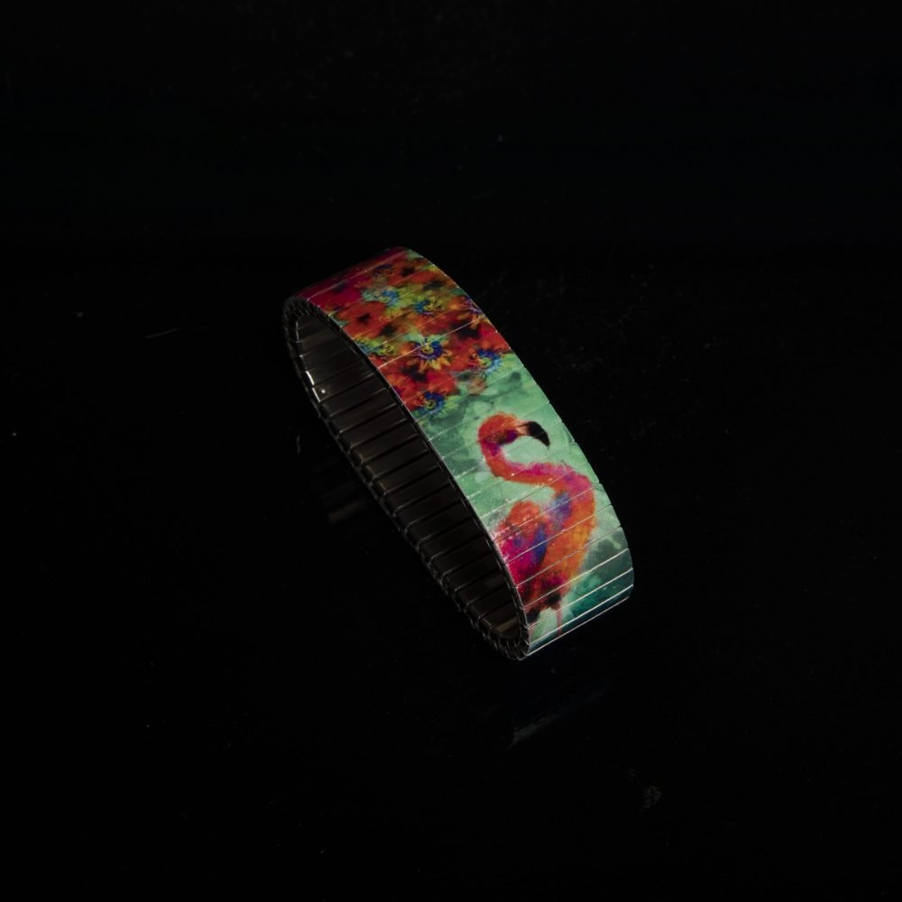 "Handgefertigtes Armband ""Flamingo"""