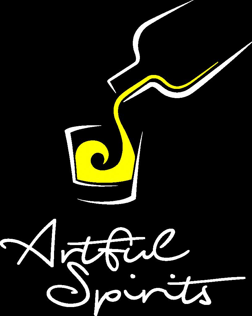 Unser wunderschönes 'Artful Spirits' Logo in Honigmelonen-Gelb.