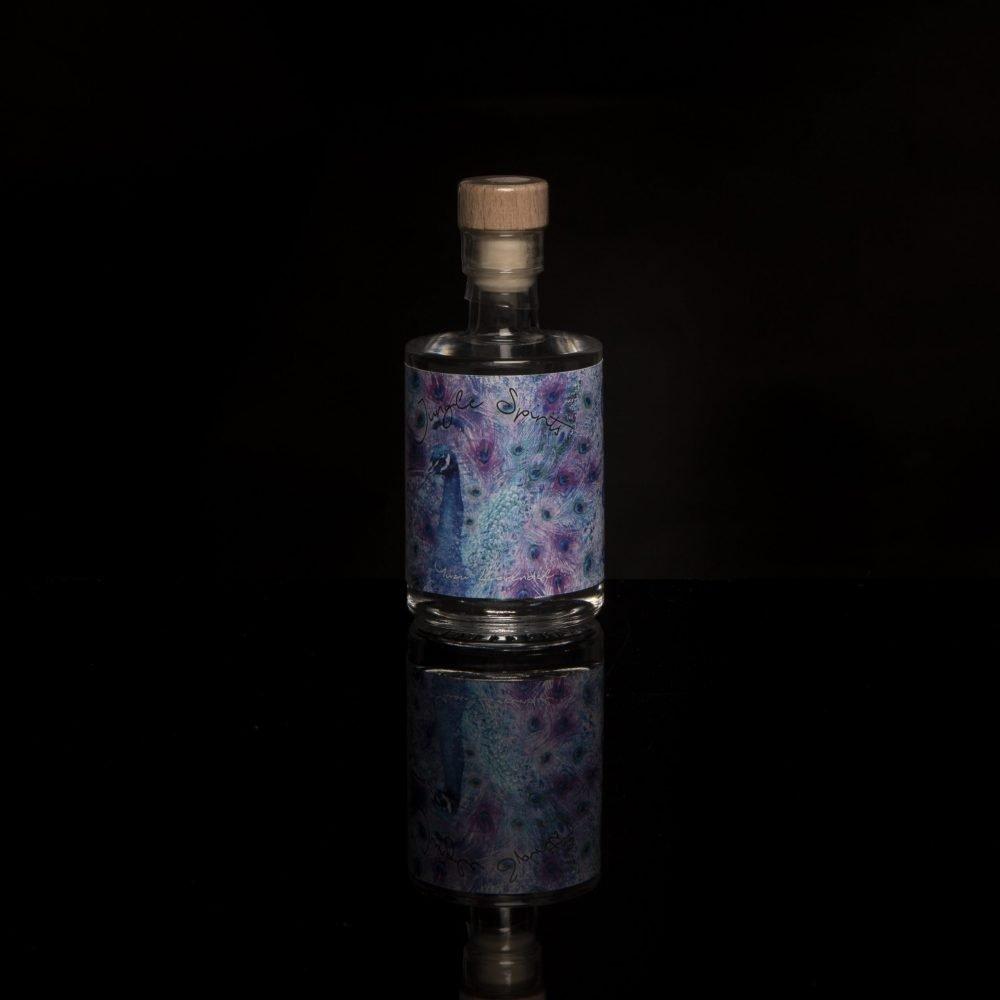 Miniaturflasche unserer Spirituose, Yuzu-Lavendel
